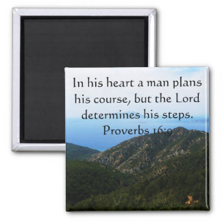 Verso inspirado da bíblia do 16:9 dos provérbio imã