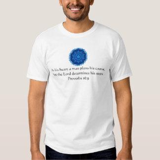 Verso inspirado da bíblia do 16:9 dos provérbio t-shirt