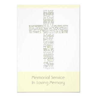 Versos da bíblia da cerimonia comemorativa 12 de convite 12.7 x 17.78cm