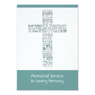 Versos da bíblia da cerimonia comemorativa 1 de convite 12.7 x 17.78cm
