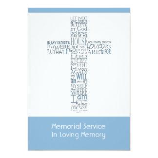 Versos da bíblia da cerimonia comemorativa 9 de convite 12.7 x 17.78cm