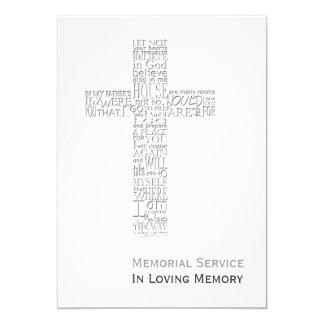Versos da bíblia da cerimonia comemorativa do convite 12.7 x 17.78cm