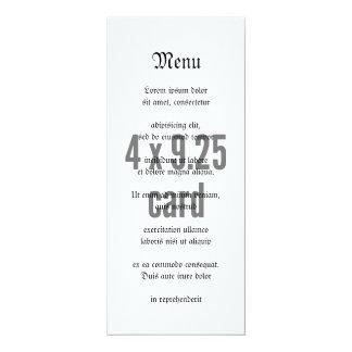 """vertical do comprimento do chá 4 x 9,25 convite 10.16"""" x 23.49cm"""