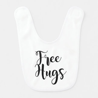 Veste livre do bebê dos abraços babador infantil