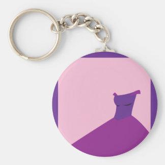 Vestido: Casamento do conto de fadas no roxo Chaveiro