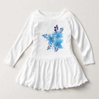 Vestido da flor do plissado da criança