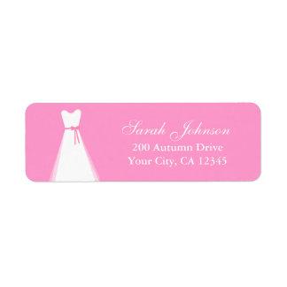 Vestido de casamento etiqueta endereço de retorno