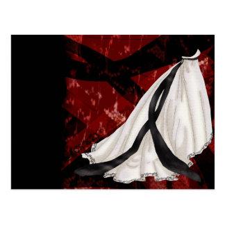 Vestido de casamento preto e branco cartão postal