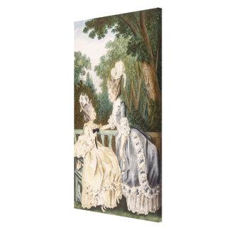 Vestido de manhã das senhoras, 1771 (gravura da co impressão em canvas