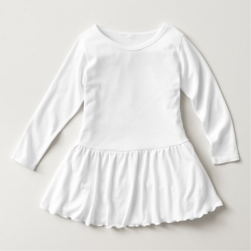 Vestido Infantil com Babado, Branco