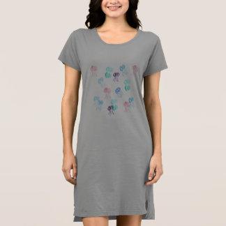 Vestido do t-shirt das mulheres das medusa