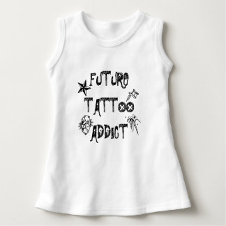 Vestido futuro do viciado do tatuagem do bebê