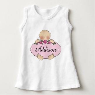 Vestido Presentes personalizados do bebê de Addison