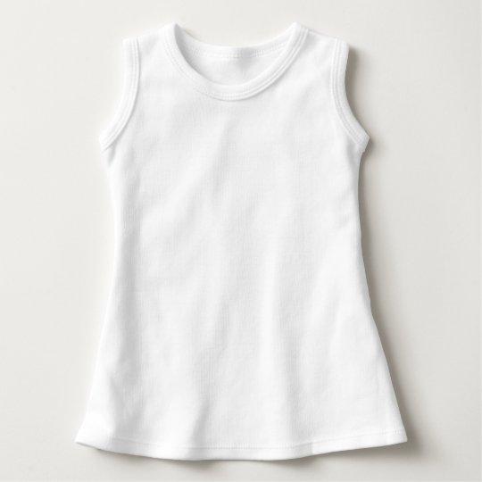 Vestido Infantil sem mangas, Branco