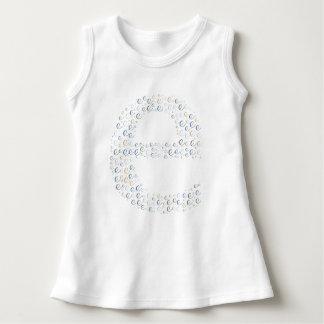 Vestido sem mangas do bebê do monograma da letra E