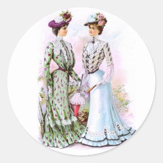 Vestidos 1901 do vintage adesivo