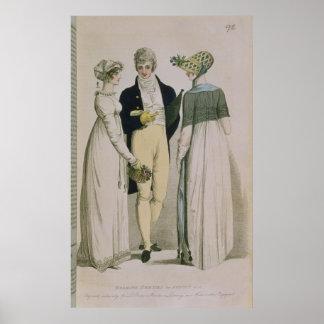Vestidos de noite para a ilustração poster