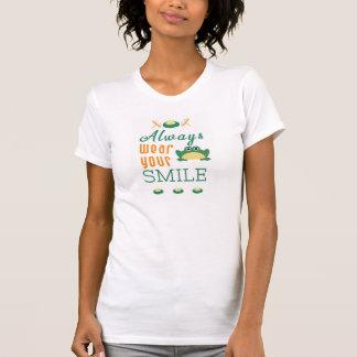 Vestir sempre suas citações inspiradores do camiseta