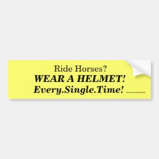 Vestir um capacete! adesivo para carro