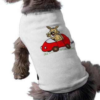"""VESTUÁRIO para cão """"engraçado coelho """" Roupa Para Pet"""