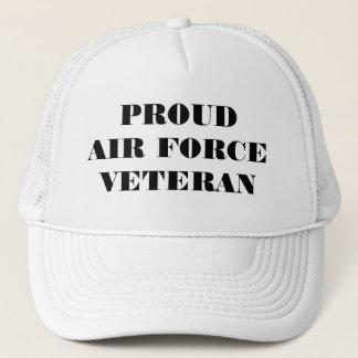 Veterano orgulhoso da força aérea do chapéu boné