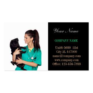 veterinário bonito do serviço do animal de estimaç cartao de visita