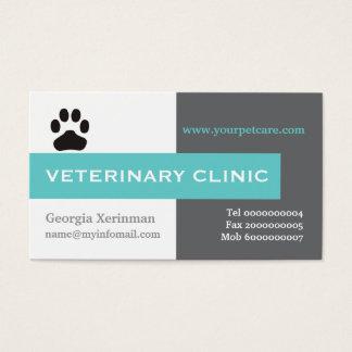 Veterinário/clínica veterinária, aqua da pata cartão de visita