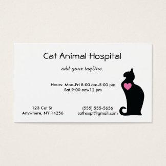 Veterinário do gato cartão de visita