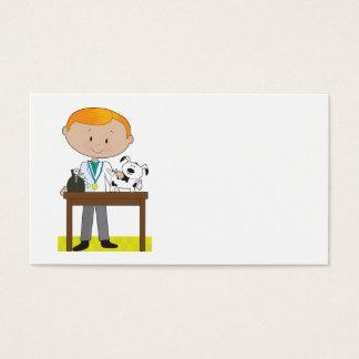 Veterinário e cão cartão de visitas