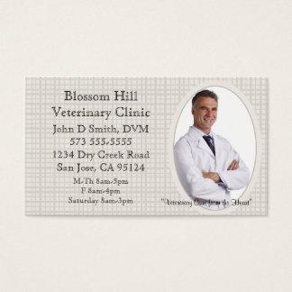Veterinário seu cartão de visita da foto