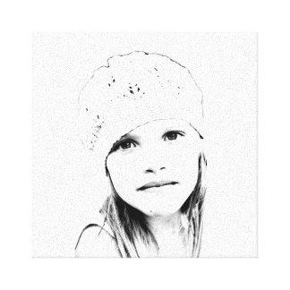Vetor de C em preto e branco Impressão De Canvas Esticadas