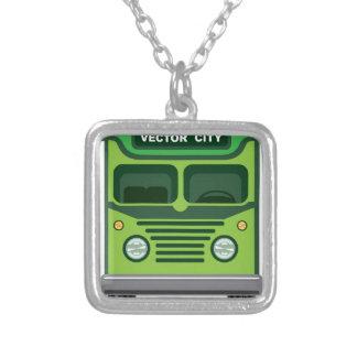 Vetor do ônibus do vintage colar banhado a prata