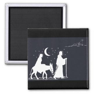 Viagem a Bethlehem Ímã Quadrado