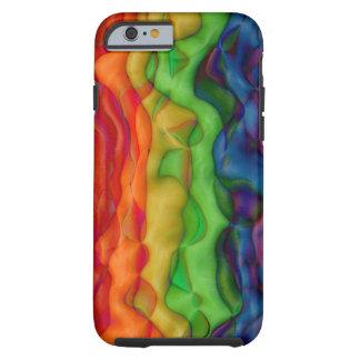 Viagem ácida do arco-íris do hippy de Psychedlic Capa Tough Para iPhone 6