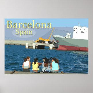 Viagem Barcelona, espanha Pôster