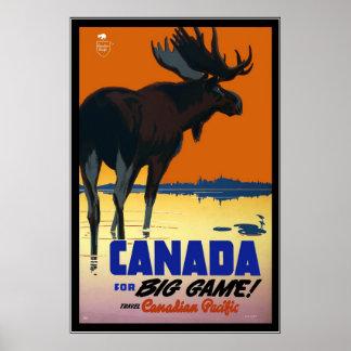 Viagem de Canadá do vintage do poster