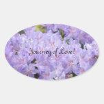 Viagem do amor! o casamento sela etiquetas do enve adesivos oval