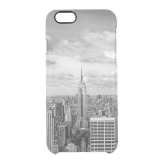 Viagem do wanderlust da skyline da Nova Iorque NY Capa Para iPhone 6/6S Transparente