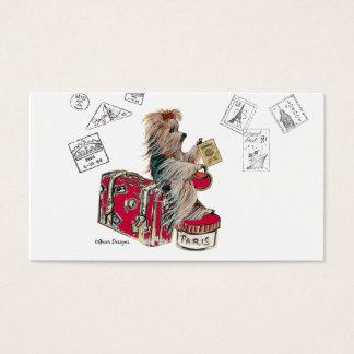 Viagem do yorkshire terrier cartão de visitas