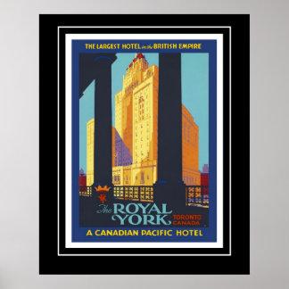 Viagem Historica York real Canadá dos posteres vin Pôster