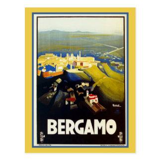 Viagem italiano de Bergamo do 1920 do vintage Cartão Postal