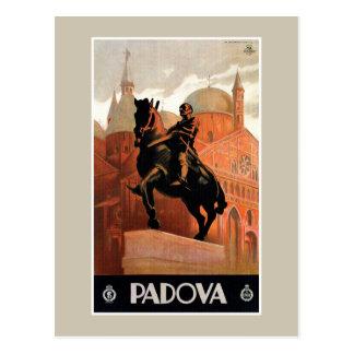 Viagem italiano de Pádua Padua do vintage Cartão Postal