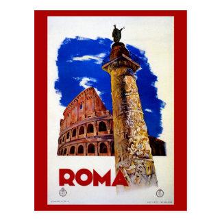 Viagem italiano de Roma Roma do vintage Cartão Postal