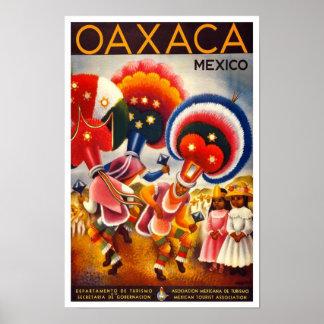 Viagem México dos posteres vintage
