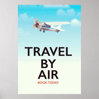 Viagem pelo poster de viagens do ar