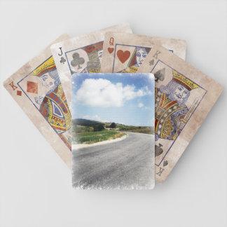 Viagem por estrada do sonho e do verão jogo de carta