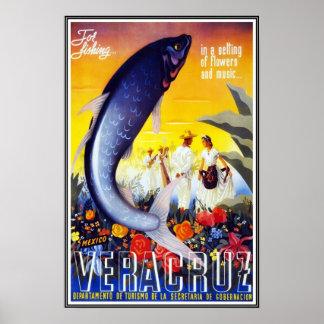 Viagem retro Veracruz da imagem do vintage do Poster