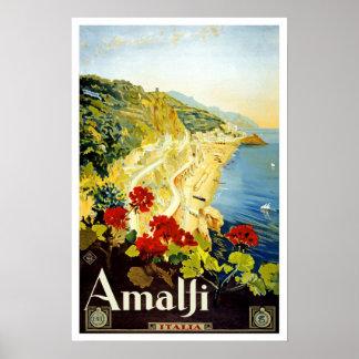 Viagens vintage, Amalfi Poster