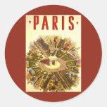 Viagens vintage, Arco do Triunfo Paris France Adesivo
