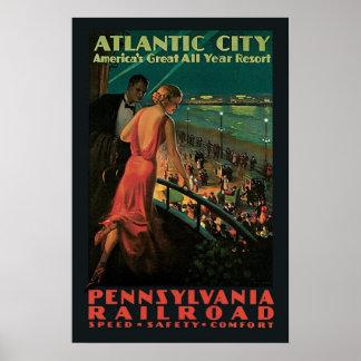 Viagens vintage, Atlantic City Impressão